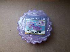 Yankee Candle Usa Rare Sweet Violet  Wax Tart