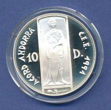 Andorra 1993, Silbermünze 10 Dineres , Heiliger Georg, 31,47g Ag925