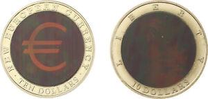 Lot Liberia  - 2x: 10 Dollars 2002, 2003 - Hologramm Liberty Statue Eurowährung