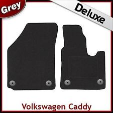 Volkswagen Caddy 2004 2005...2009 Tailored LUXURY 1300g Car Mats (Round) GREY