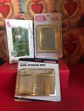 Locker Lounge Geo Diamond Pendant Locker Light storage box and Gold Mirror