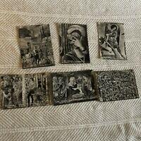 Lot of 6 Black & White Photo Vintage Postcards Pisa Italy Cemetery Churchyard