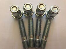 4 X M12X1.25 ALLOY WHEEL STUDS + NUT CONVERSION 60mm LONG FITS FIAT 2 58.1