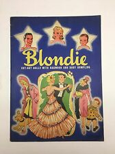 Rare 1940 Blondie #982 Cut Out Original Paper Dolls Baby Dumpling UNCUT DOLL