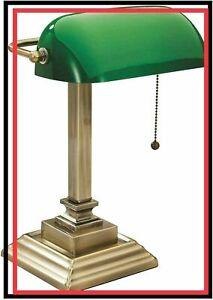"""New 15"""" V-LIGHT Traditional Desk Task Lamp, Antique Gold (VS150402GR)"""