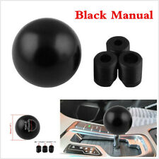 Black Aluminum Round Car SUV Gear Shift Knob For Manual Transmission M/T Stick