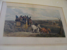 Vintage 1890 Framed Print: painted by W J SHAYER etched A H PHILLIPS -DOWN HILL