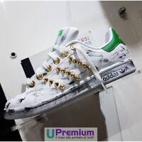Adidas Stan Smith Verde Tachonada Oro Vintage Zapatos ORIGINALES 100% ITALIE 201