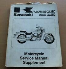OE KAWASAKI VULCAN/VN 1500 CLASSIC WORKSHOP MANUAL  SUPPLEMENT