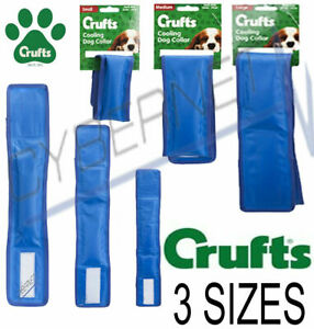 Crufts Branded Pet Cooling Collar Advanced Gel Cool Down Dog Cat 3 Sizes