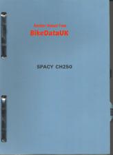 Honda CH250 Spacy (1985 >>) Genuine Factory Repair Manual MF01 CH 250 Elite CW47