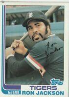 FREE SHIPPING-MINT-1982 Topps #488 Ron Jackson Tigers PLUS BONUS CARDS
