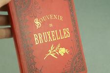 SOUVENIR DE BRUXELLES BELGIQUE Carnet 28 Planches Photos Anciennes Album Vintage
