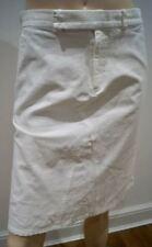 CHAIKEN Winter White Cotton & Linen Stretch Blend Summer Pencil Skirt US8; UK12