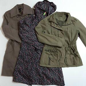 Ladies 3-Piece Spring Summer Coat/Jacket Bundle Size 8 Brown Green Blue Floral