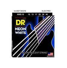 DR Strings NWE-10 Coated Nickel Hi-Def White Electric Guitar Strings, Medium,...