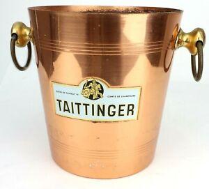 Rare Vintage Taittinger Champagne Copper? Bronze Bucket Cooler Made In France