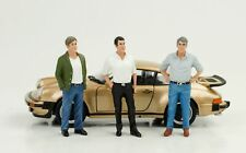 70`S 70er Mann Figurine 3 x Figures Set 1:24 American Diorama No Car New