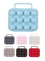 Plastic Egg Box With Handle Egg Tray 12 Eggs Folding Portable Storage Holder