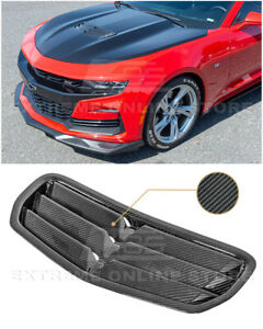 For 19-Up Camaro SS & LT1 GM Factory Style CARBON FIBER Hood Vent Louver Cover