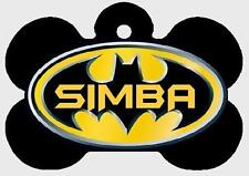 BATMAN PET ID TAGS Personalized Any Name Custom Dog Tag Printed on 2 Sides