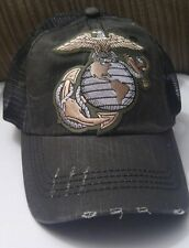 USA Marine Corps Distressed Trucker Hat Low Profile Cotton Soft Mesh Hat