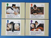 Set of 4 PHQ Stamp Postcards Set No.108 400th Anniversary Welsh Bible CQ3