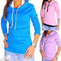 ZAHIDA Damen Pullover Pulli Kapuzen-Jacke Sweatshirt Hoodie T-Shirt NEU Wow TOP
