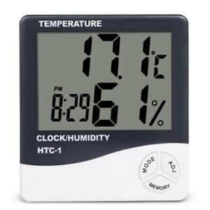 THERMOMETER HUMIDITY METER - HYDROPONICS HYGROMETER FOR GROW ROOMS