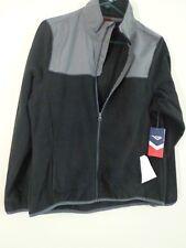 PONY All Weather Gray & Black Fleece Zip Up Jacket Ladies LARGE