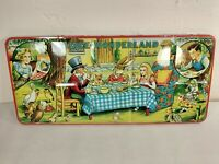 Alice in Wonderland 1950s Vintage Page London Paint Box - Mad Hatter's Tea Party