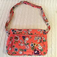 Vera Bradley Iconic RFID Little Hipster Crossbody Purse Coral Floral NWT