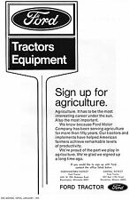 1973 Dealer Print Ad Ford Farm Tractor Equipment Dealership Sign