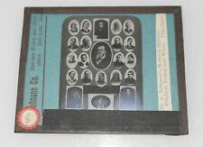 Rare 1898 Mormon Brigham Young & his 21 wives Salt Lake Utah Johnson glass slide