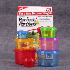 Mini 7Pcs Meal Prep Perfect Portions Control Food Storage Containers Box Case
