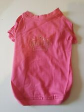 Pink Diamante Crown Dog T-shirt Princess Girly Pet Clothing X Small to Medium