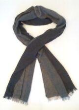 Dustin Grey Striped Wool Blend Scarf
