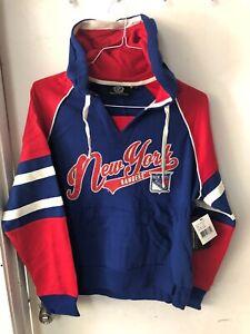 New York Rangers Women's 2xl Hoodie Sweatshirt GIII New Nhl Hockey Blue Sports