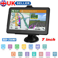 "7"" 8GB Navigator Sat Nav Car Truck HGV GPS Navigation Free EU UK Maps Speedcam"