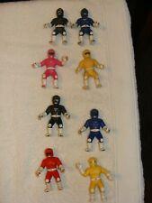 Bandai Mighty Morphin Power Rangers Mini Figures Ranger Lot Zeo Set of 8
