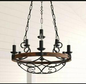 6 light rustic chandelier
