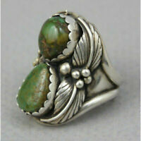 Vintage Antique 925 Silver Turquoise Ring Women Man Wedding Jewelry Gift Sz6-10