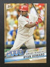 RYAN HOWARD 2020 TOPPS SERIES 2 decades' best GOLD REFRACTOR 36/50 #DBC-83