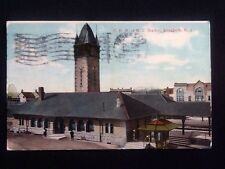 Original c1909 C.R.R. Of N.J. Station, Elizabeth, NJ Rare Vintage DB Postcard
