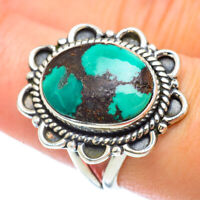 Tibetan Turquoise 925 Sterling Silver Ring Size 8.25 Ana Co Jewelry R56745F