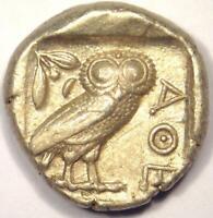 Athens Greece Athena Owl Tetradrachm Coin (454-404 BC) - Nice XF Condition!