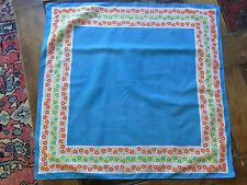 N11 FOULARD FILLE FILLETTE Coton imprimé  VINTAGE 70  Girl Scarf cotton printed