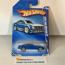 2010 Ford Mustang GT #69 * Blue * 2010 Hot Wheels * WG1