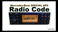 Radio Code - Mercedes-Benz Special APS BP4902 by Becker -  KEY CODE
