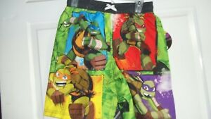 Teenage Mutant Ninja Turtles Boys Swim green  swim trunks size  8  or 10/12
